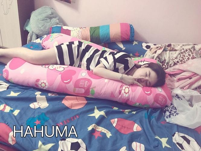 Gối ôm bà bầu chữ U Hahuma giúp mẹ bầu có tư thế nằm ngủ tốt nhất